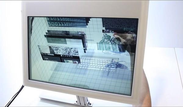 Une interface 3D pour écran transparent