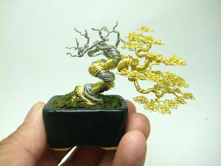 bonzai fil de fr er 01 720x540 Des bonsaïs en fil de fer  divers bonus art