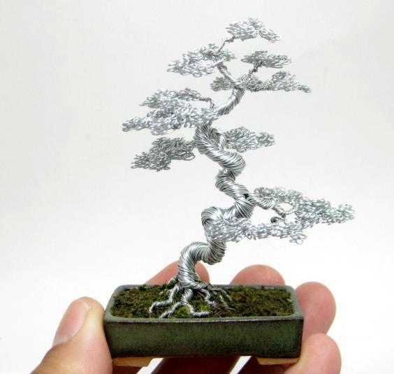 bonzai fil de fr er 02 Des bonsaïs en fil de fer  divers bonus art