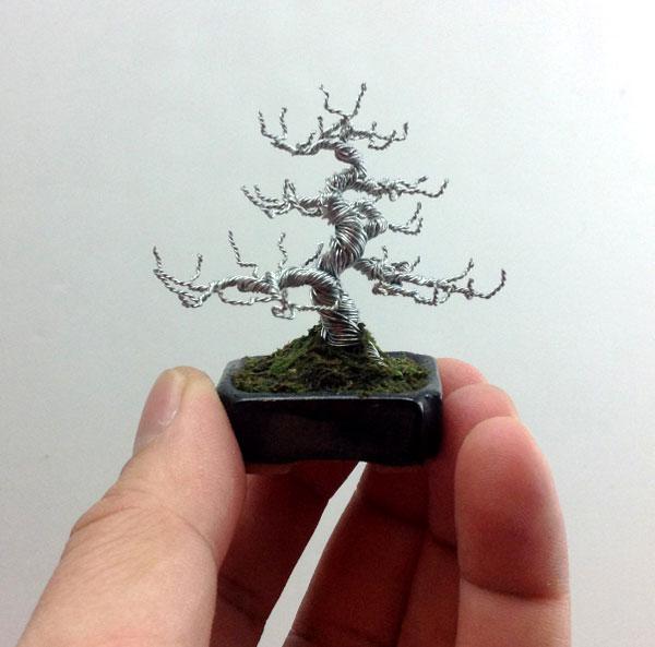 bonzai fil de fr er 03 Des bonsaïs en fil de fer  divers bonus art