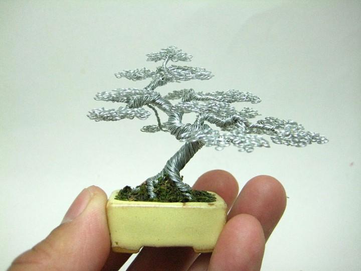 bonzai fil de fr er 04 720x540 Des bonsaïs en fil de fer  divers bonus art