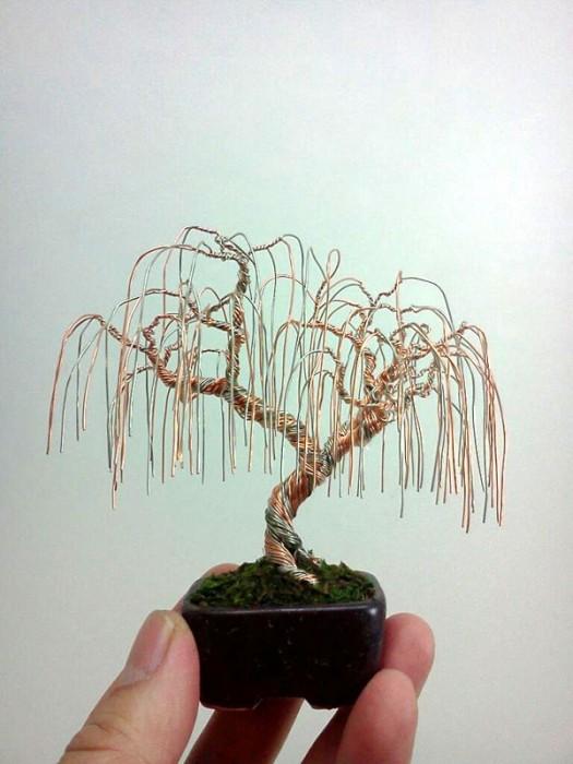 bonzai fil de fr er 05 525x700 Des bonsaïs en fil de fer  divers bonus art
