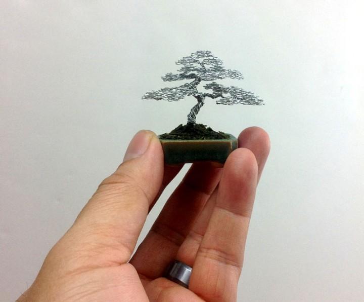 bonzai fil de fr er 06 720x596 Des bonsaïs en fil de fer  divers bonus art