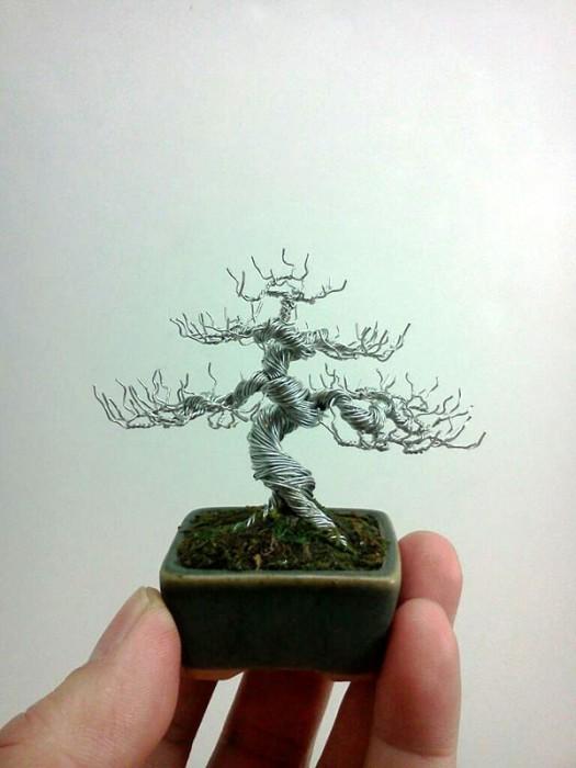 bonzai fil de fr er 07 525x700 Des bonsaïs en fil de fer  divers bonus art