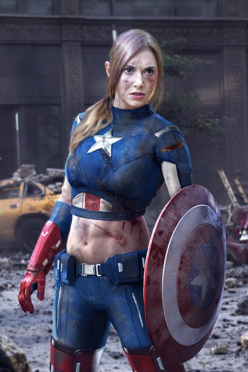 Captain america en femme - Captain america fille ...