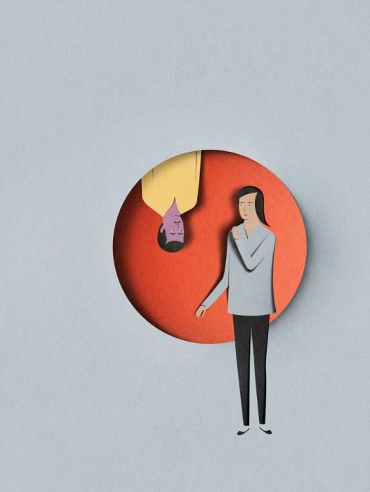illustration papier couleur 02 527x700 Des illustrations en papier découpé