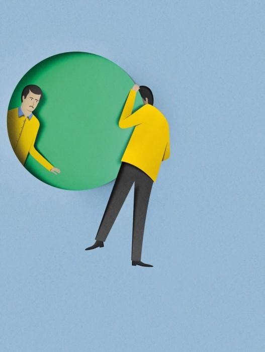 illustration papier couleur 03 527x700 Des illustrations en papier découpé