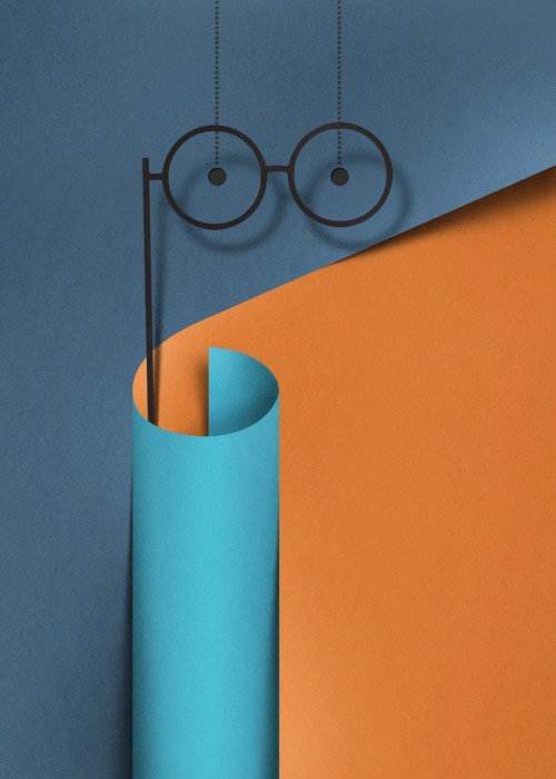 illustration papier couleur 05 500x700 Des illustrations en papier découpé