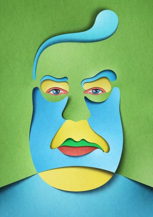 illustration papier couleur 10 495x700 Des illustrations en papier découpé