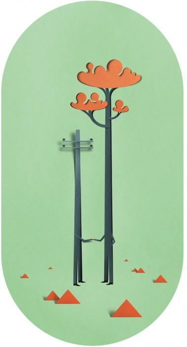 illustration papier couleur 12 378x700 Des illustrations en papier découpé