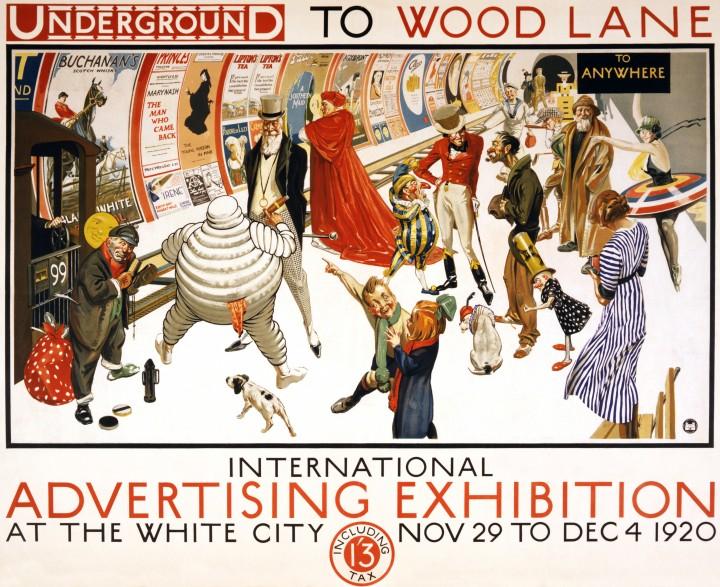 londres london metro undergroud affiche poster 01 720x587 150 ans daffiches du métro de Londres