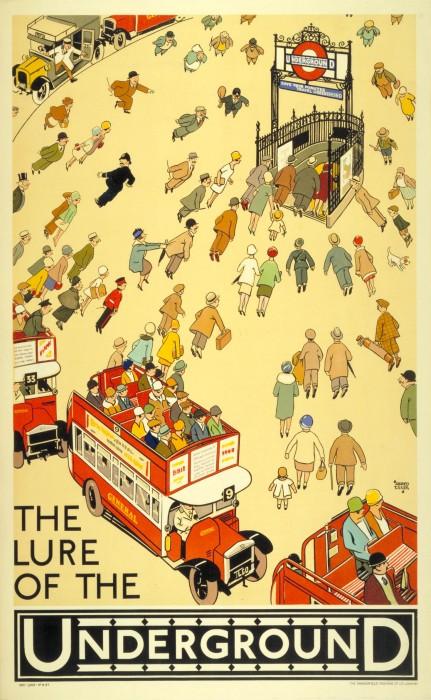 londres london metro undergroud affiche poster 02 431x700 150 ans daffiches du métro de Londres