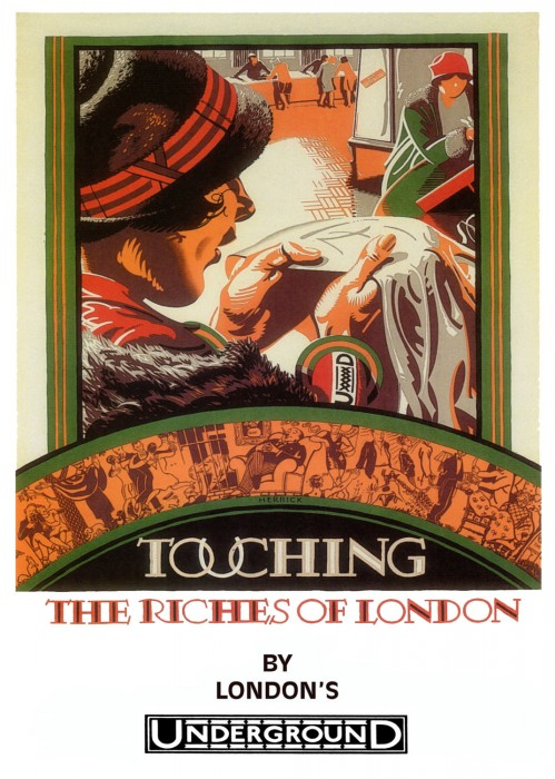 londres london metro undergroud affiche poster 05 499x700 150 ans daffiches du métro de Londres
