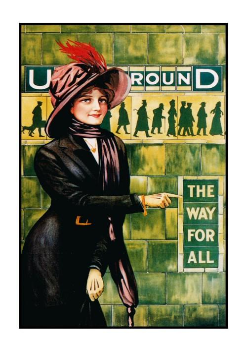 londres london metro undergroud affiche poster 15 500x700 150 ans daffiches du métro de Londres