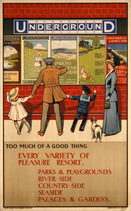londres london metro undergroud affiche poster 18 435x700 150 ans daffiches du métro de Londres