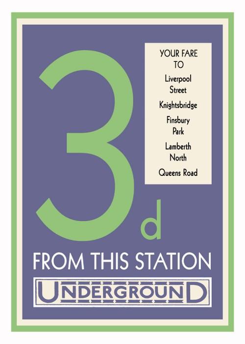 londres london metro undergroud affiche poster 19 500x700 150 ans daffiches du métro de Londres