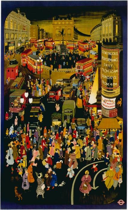 londres london metro undergroud affiche poster 21 427x700 150 ans daffiches du métro de Londres