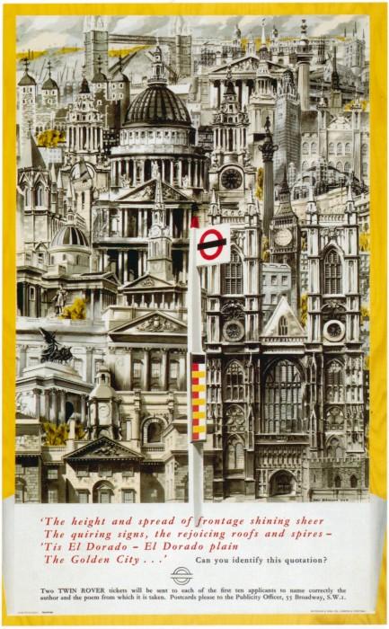 londres london metro undergroud affiche poster 22 433x700 150 ans daffiches du métro de Londres