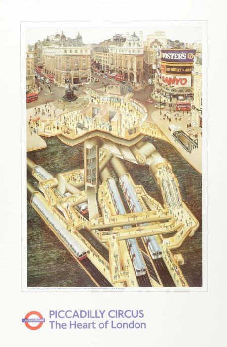 londres london metro undergroud affiche poster 23 459x700 150 ans daffiches du métro de Londres