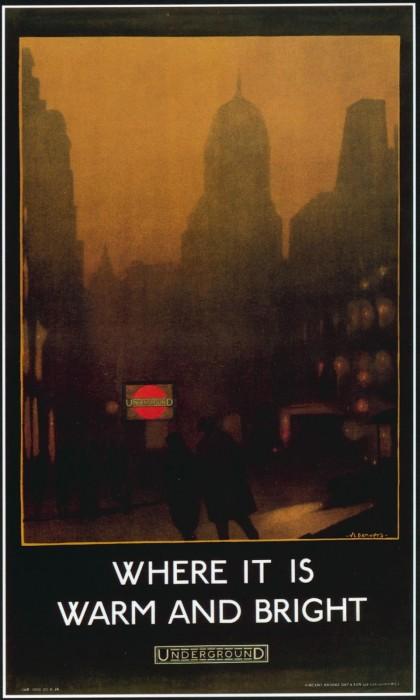 londres london metro undergroud affiche poster 28 420x700 150 ans daffiches du métro de Londres