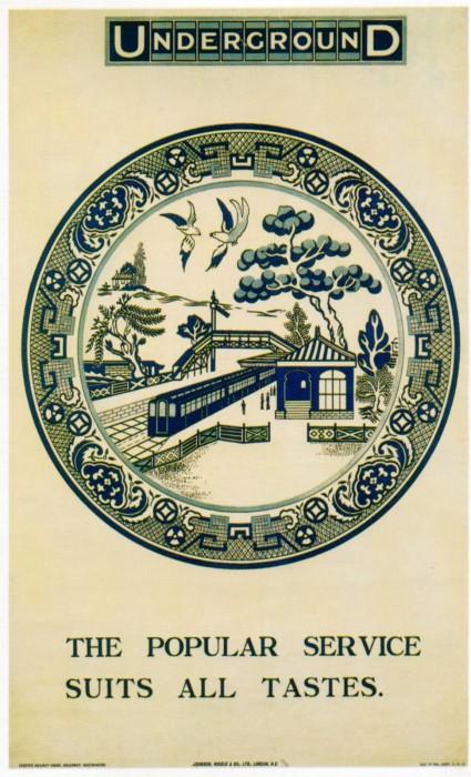 londres london metro undergroud affiche poster 32 425x700 150 ans daffiches du métro de Londres
