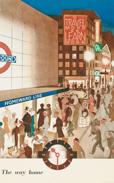 londres london metro undergroud affiche poster 34 437x700 150 ans daffiches du métro de Londres  histoire design bonus art