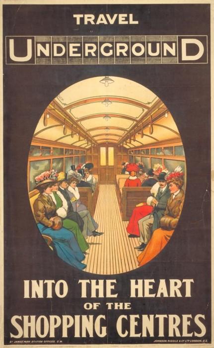 londres london metro undergroud affiche poster 36 431x700 150 ans daffiches du métro de Londres