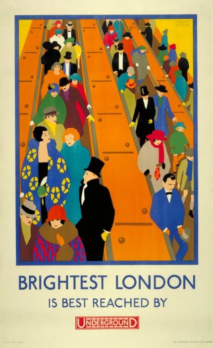 londres london metro undergroud affiche poster 39 430x700 150 ans daffiches du métro de Londres