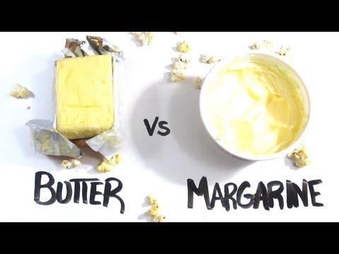 La différence entre le beurre et la margarine
