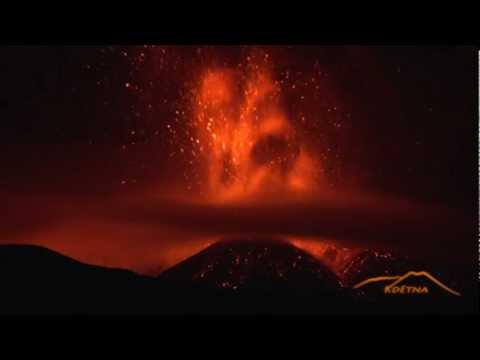 Une éruption de l'Etna en mars 2013