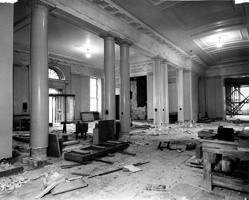 Quand la maison blanche a ete detruite for The white house interiors