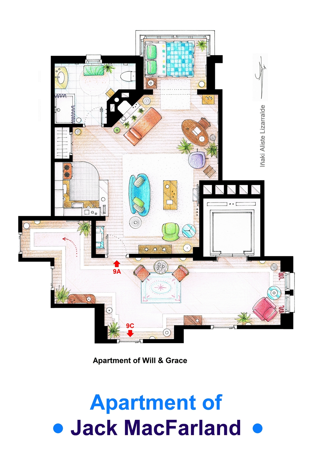 Des plans d 39 appartements de films et s ries for House plan set