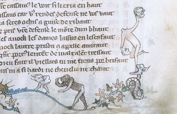 marginalia enluminure etrange moyen age 05 Des enluminures étranges au Moyen Age  peinture 2 histoire design bonus art