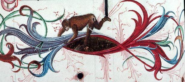 marginalia enluminure etrange moyen age 07 Des enluminures étranges au Moyen Age  peinture 2 histoire design bonus art