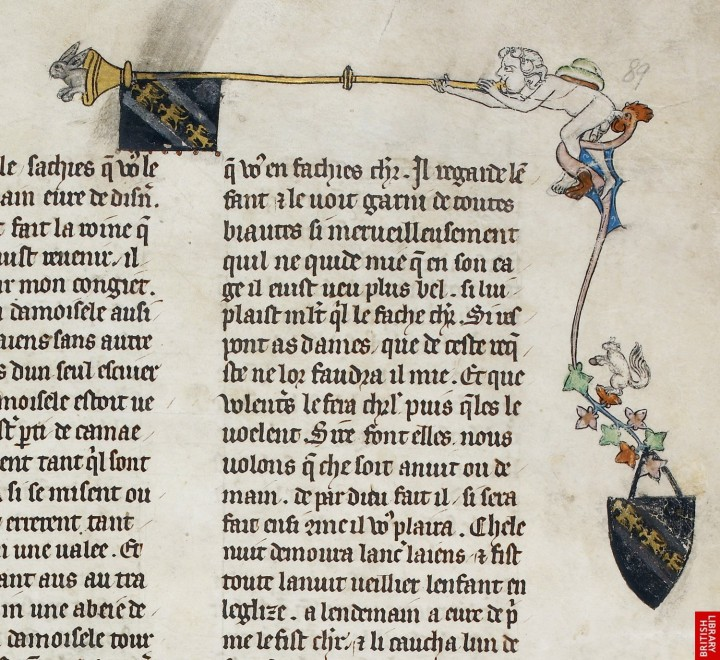 marginalia enluminure etrange moyen age 08 720x660 Des enluminures étranges au Moyen Age  peinture 2 histoire design bonus art