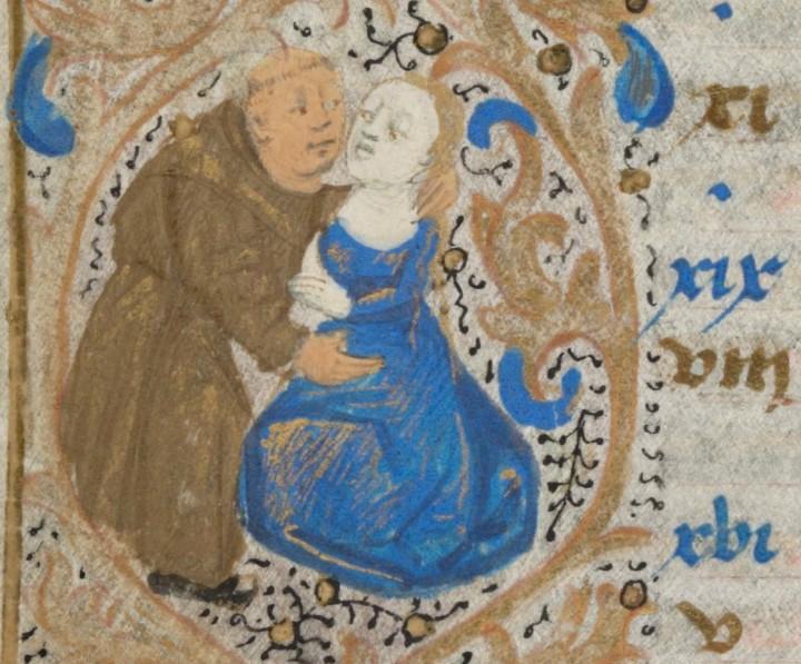 marginalia enluminure etrange moyen age 10 720x597 Des enluminures étranges au Moyen Age  peinture 2 histoire design bonus art