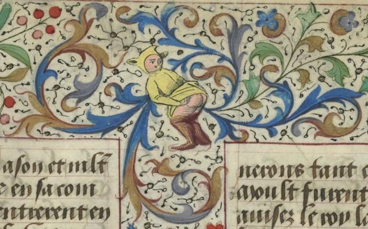 marginalia enluminure etrange moyen age 11 720x449 Des enluminures étranges au Moyen Age  peinture 2 histoire design bonus art