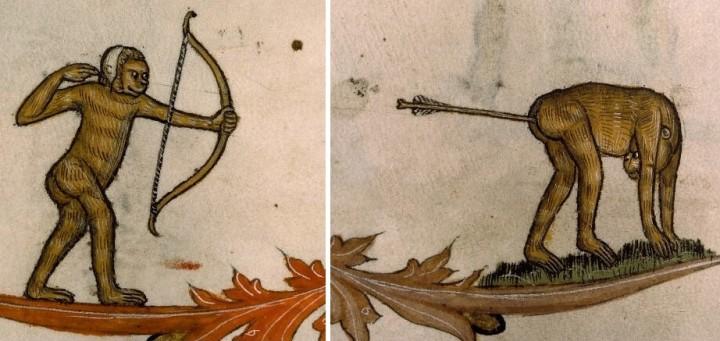marginalia enluminure etrange moyen age 15 720x341 Des enluminures étranges au Moyen Age  peinture 2 histoire design bonus art