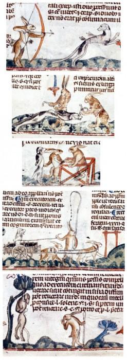 marginalia enluminure etrange moyen age 23 247x700 Des enluminures étranges au Moyen Age  peinture 2 histoire design bonus art