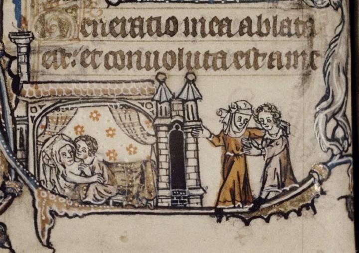 marginalia enluminure etrange moyen age 26 720x509 Des enluminures étranges au Moyen Age  peinture 2 histoire design bonus art
