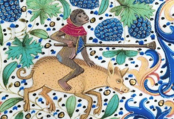 marginalia enluminure etrange moyen age 38 Des enluminures étranges au Moyen Age  peinture 2 histoire design bonus art