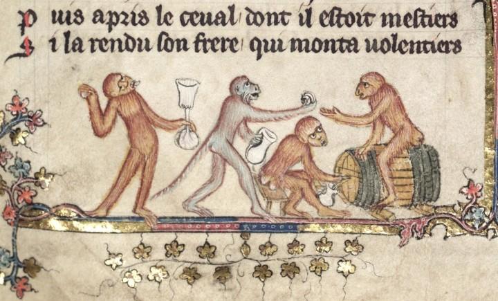 marginalia enluminure etrange moyen age 40 720x435 Des enluminures étranges au Moyen Age  peinture 2 histoire design bonus art
