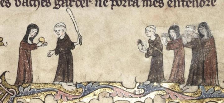 marginalia enluminure etrange moyen age 42 720x332 Des enluminures étranges au Moyen Age  peinture 2 histoire design bonus art