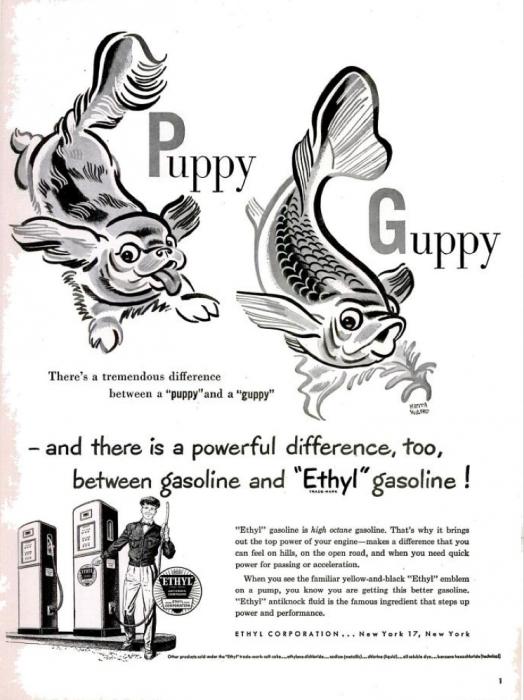 publicite-petrole-Ethyl-essence-1950-09