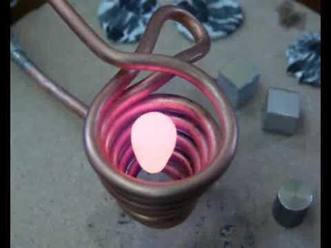 Faire fondre de l'aluminium avec un électroaimant