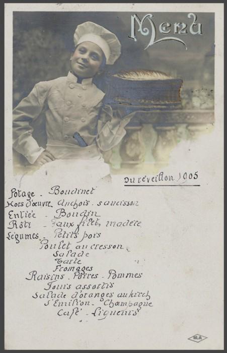 Repas Noel 1905 451x700 Lhistoire des menus  liens histoire divers bonus