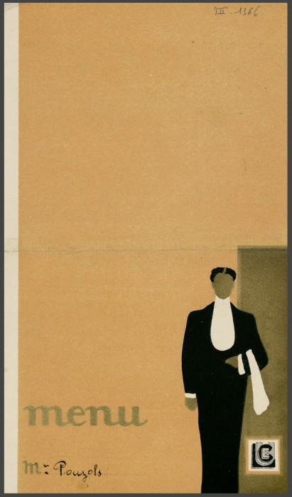 Déjeuner Restaurant Luce - 1934 - Bibliothèque municipale de Dijon