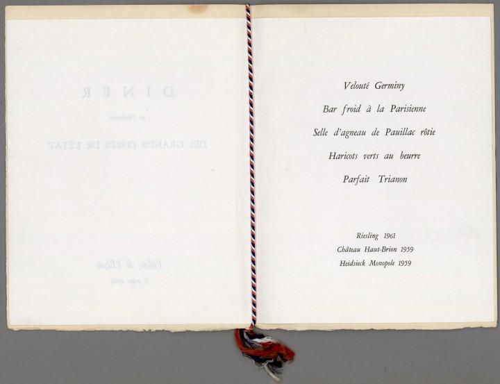 menu degaulle elysee 21 720x553 Lhistoire des menus  liens histoire divers bonus