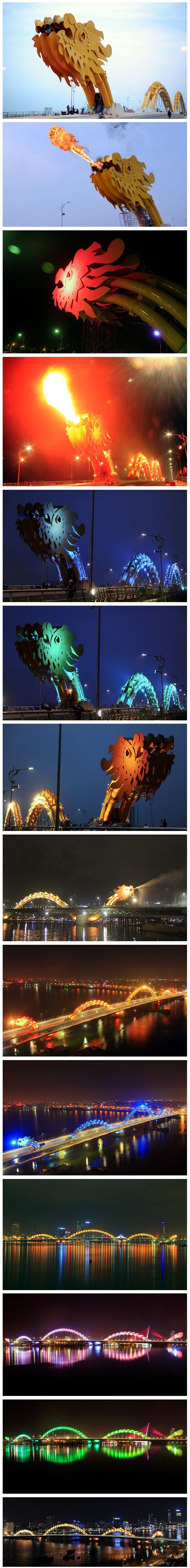 pont dragon Un pont en forme de dragon au Vietnam  lieux information bonus