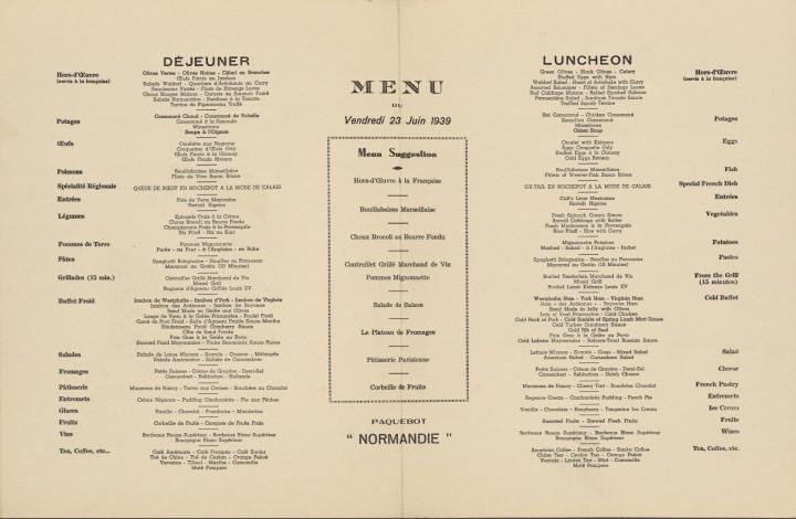 ss normandie 1939 2 720x470 Lhistoire des menus  liens histoire divers bonus